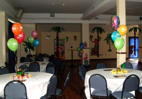 Hawaiian Themed Helium Balloons St. Marys Rugby Club Templeogue